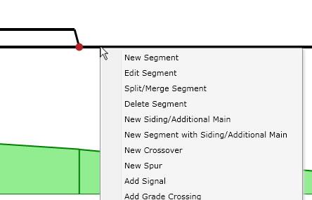 Track segment context menu