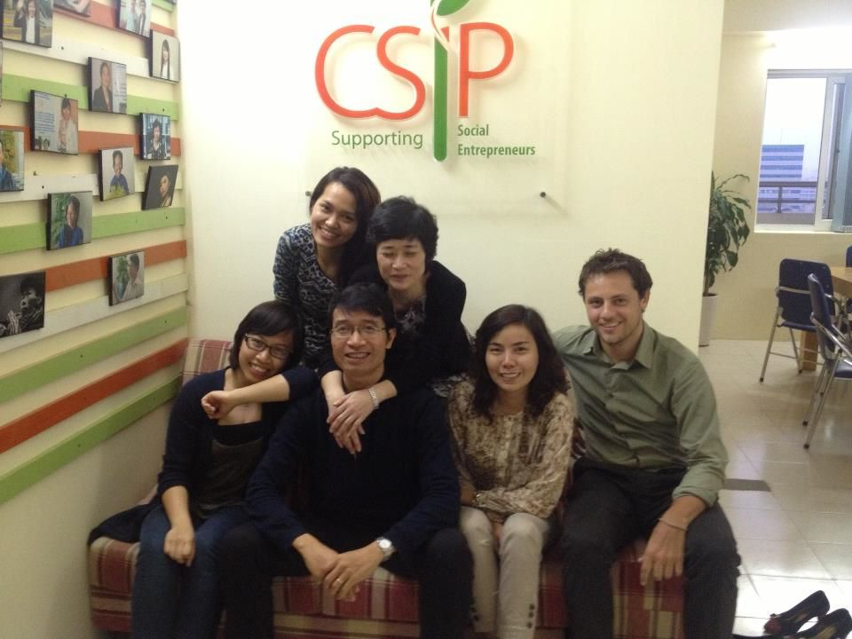 Posing with my wonderful CSIP co-workers